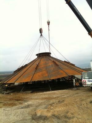 Installation of 8,000 cubic meters of methane tank at WWTP in Varna
