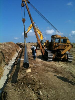 Construction of gas distribution pipeline in the town of Dupnitsa