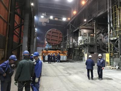 "Подвижен конвертор в Металургично производство в ""Аурубис"" АД гр. Пирдоп"
